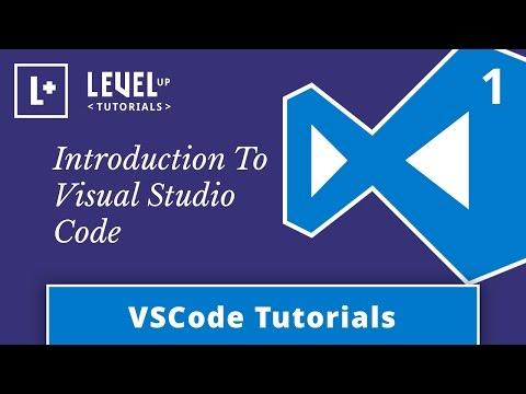 VSCode Tutorials #1 - Introduction To Visual Studio Code