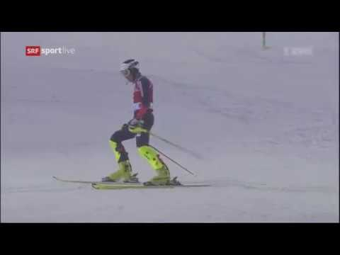 Dave Ryding 2nd run crashes Men's Slalom - Levi FIS Alpine Skiing World Cup 2017