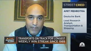 What's fueling the rise in transport stocks?