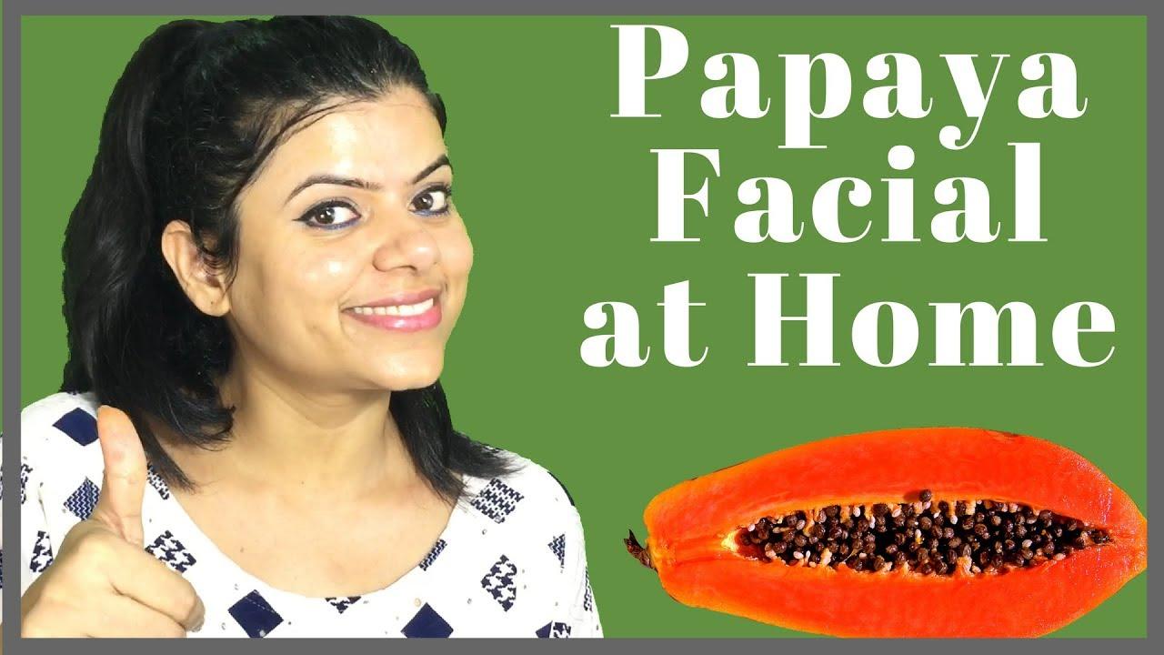 Homemade papaya facial