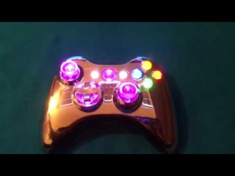 Custom New Xcm Light Up Xbox 360 Controller Youtube