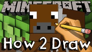 How 2 Draw The Cow From Minecraft
