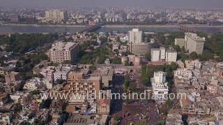 Ahmedabad city in Gujarat : aerial flight - help us identify the monuments and landmarks!