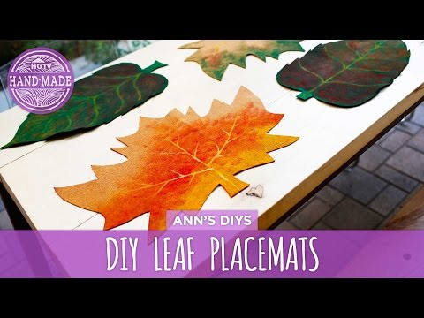 DIY Fall Leaf Placemats - HGTV Handmade