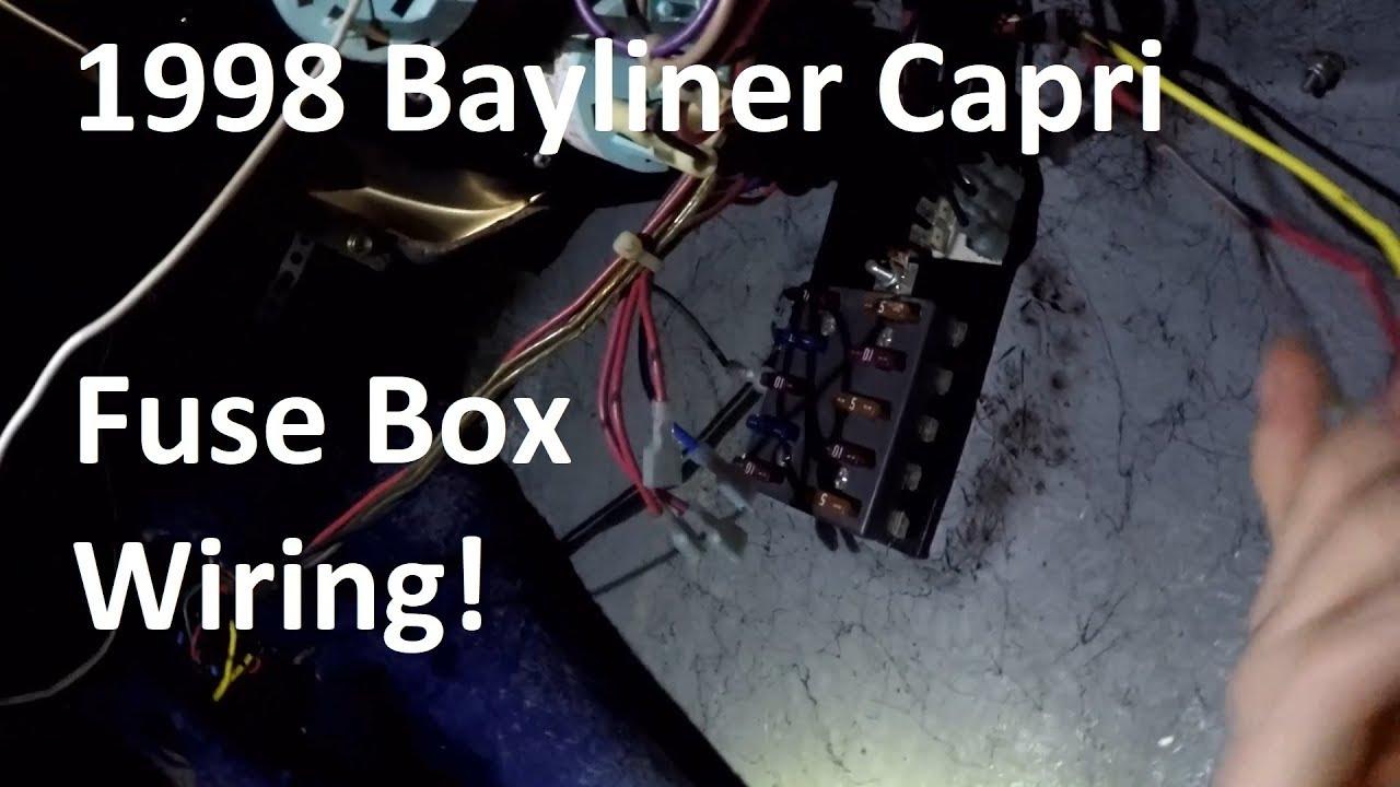 1986 bayliner fuse diagram bayliner fuse box wiring day 5 youtube  bayliner fuse box wiring day 5 youtube