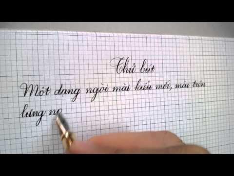Thử Bút luyện chữ đẹp Lê Ta