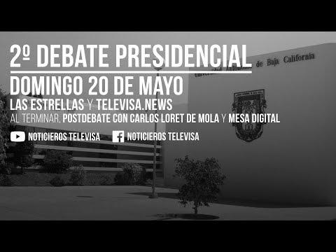 Segundo Debate entre candidatos a la Presidencia de México