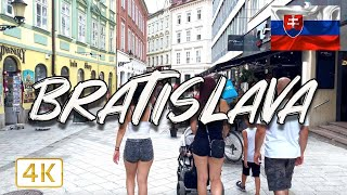 One afternoon in Bratislava, SLOVAKIA 🇸🇰 I Walking tour I 4K/60fps