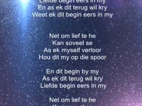 Liefde Begin Eers in My Lyric Video - Nianell