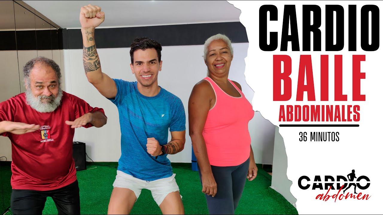 PERDER PESO BAILANDO    Rutina de Cardio, Baile y Abdominales    DESDE CASA   36 Minutos
