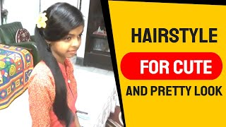 An Easy Self hairstyle for cute and pretty look for Girl's. Self Hairstyles//How to self style.