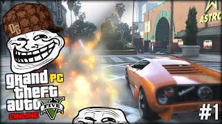 ATTEMPTING TO TROLL ... PLEASE WAIT. WILL IT WORK? (GTA 5 Online PC Funny Moments #1)