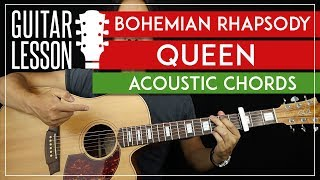 Bohemian Rhapsody Acoustic Chords Guitar Tutorial - Queen Guitar Lesson 🎸 |TABS + Easy Strumming| MP3