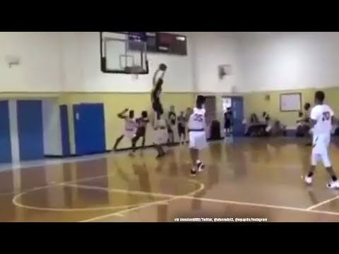 Blocked Shot Turns Into An Alley-Oop!
