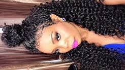 Lace Frontal Full Sew in Weave Peruvian Curly Vipbeauty Hair