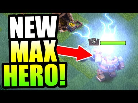 """GEMMING NEW HERO TO MAX LEVEL!! - """"BATTLE MACHINE"""" IS SO OP! - Clash Of Clans"""