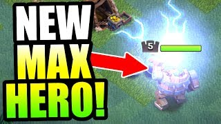 "GEMMING NEW HERO TO MAX LEVEL!! - ""BATTLE MACHINE"" IS SO OP! - Clash Of Clans"