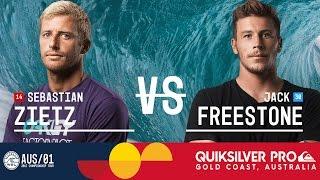 Sebastian Zietz vs. Jack Freestone - Quiksilver Pro Gold Coast 2017 Round Two, Heat 4