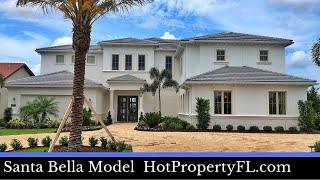 New Model Home Winter Garden FL  Toll Brothers  Santa Bella Model  In-Law Suite  Lakeshore