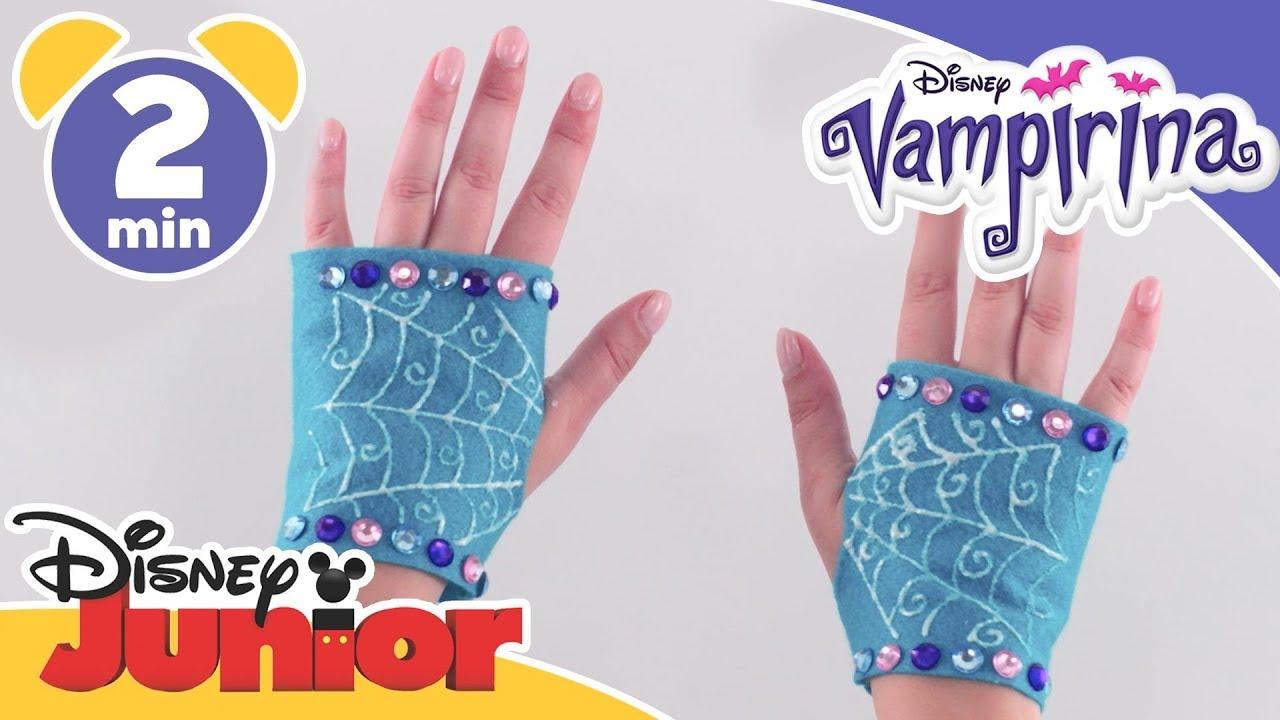 Vampirina | Halloween Craft Tutorial: Vampirina\'s Gloves | Disney ...