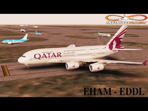 [Infinite Flight] Airbus A380-800 | EHAM - EDDL | Qatar Airways | Full Flight ᴴᴰ