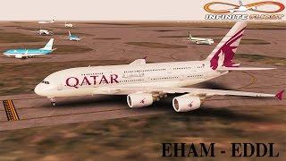 [Infinite Flight] Airbus A380-800 | EHAM - EDDL | Qatar Airways | Full Flight ᴴᴰ
