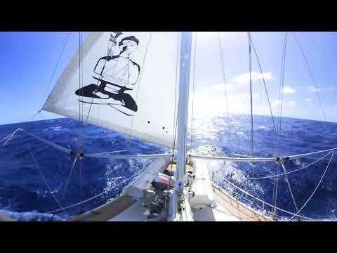 Sailing the South Atlantic in 360- Sailing Vessel Delos
