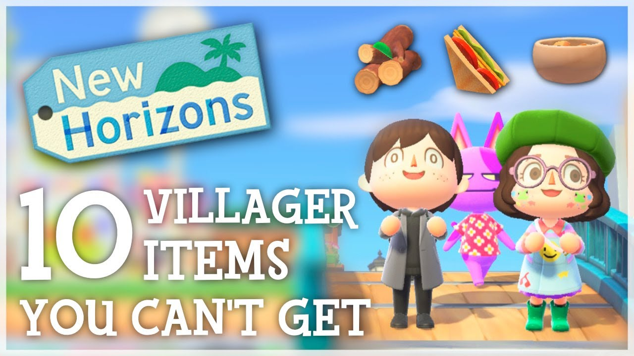 Animal Crossing New Horizons - 10 VILLAGER ITEMS You Can't Get (Ft. @froggycrossing)