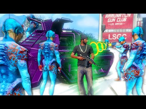 THE UP-N-ATOMIZER RAY GUN! *ALIEN TROLLING!*   GTA 5 THUG LIFE #200