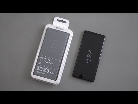 Clear View Standing Cover: Samsung Galaxy Note 8   deutsch