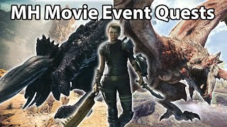 Monster Hunter Movie Event Quests + Cutscenes | MHW:IB