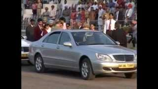 Prince Charles in Patiala. Hans Raj Hans performs the welcome Song