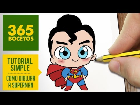 COMO DIBUJAR SUPERMAN KAWAII PASO A PASO , Kawaii facil , How to draw Superman , YouTube