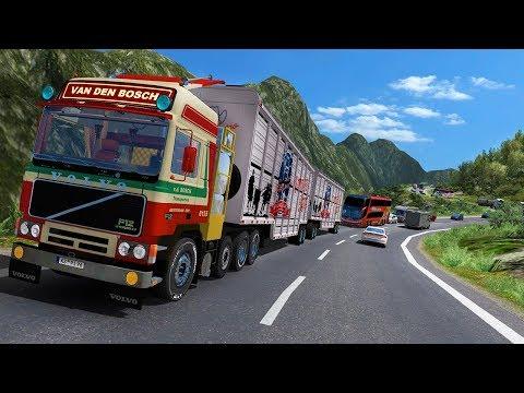 ETS 2 V 1.30 Volvo F10 MAPA COLOMBIA EXTREMO RUTA  Bogota D.C Honda Villeta