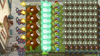 Plants vs Zombies 2 - Cactus and Coconut Cannon vs all Zombies