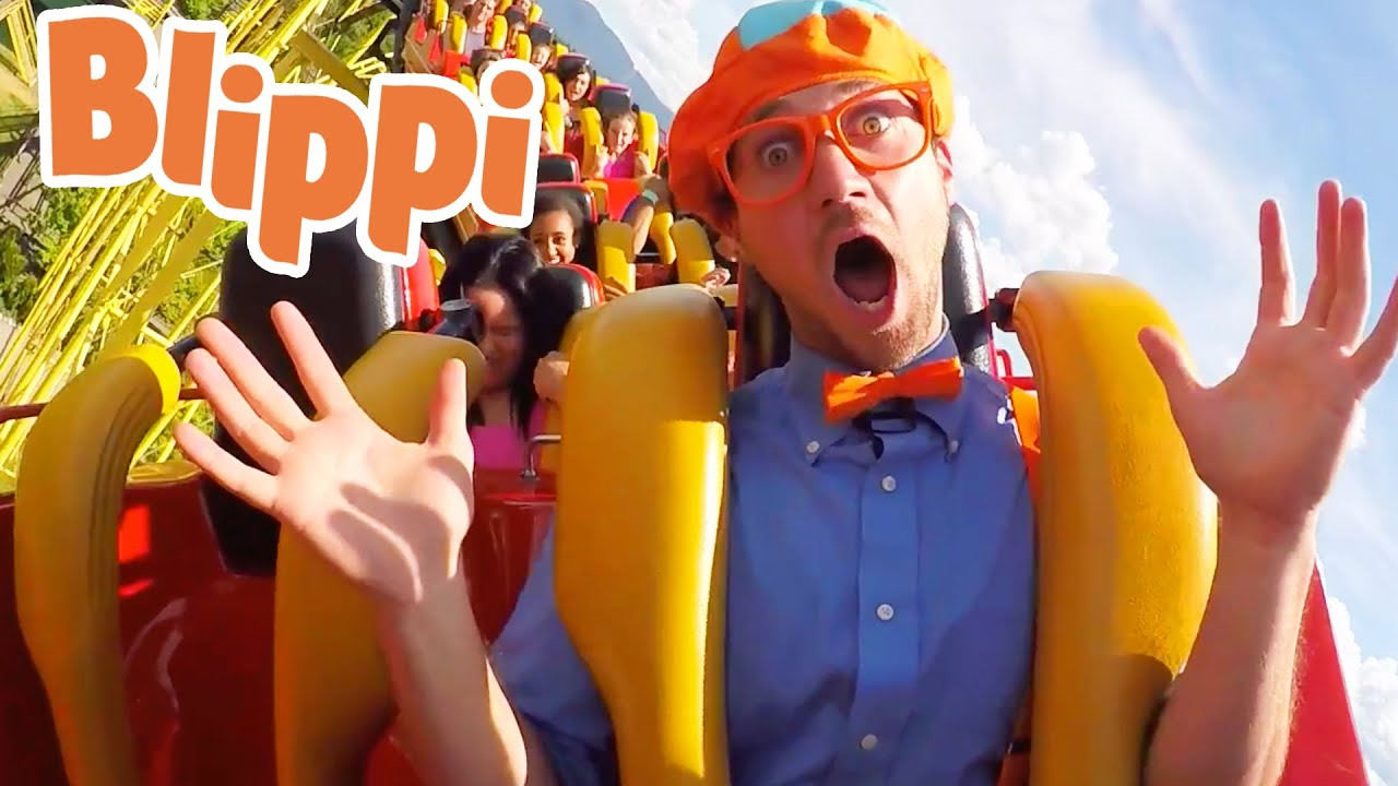 Blippi Visits The Theme Park | Fun and Learning With Blippi | 1 Hour Of Blippi | Educational Videos