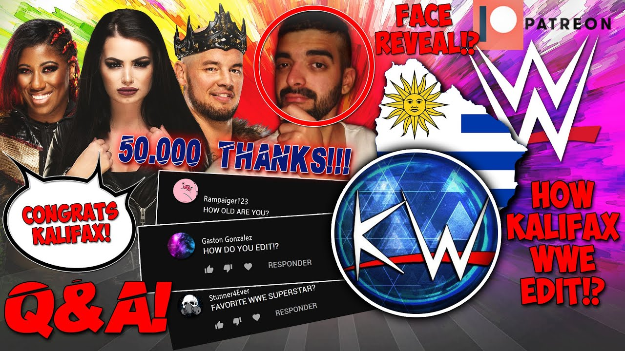 PAIGE, EMBER MOON & KING CORBIN SEND WORDS TO KALIFAX WWE   50.000 SUBSCRIBERS Q&A SPECIAL VIDEO!!!