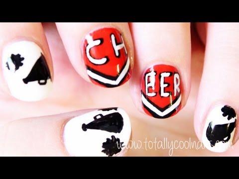 Cheerleading Nail Art Youtube