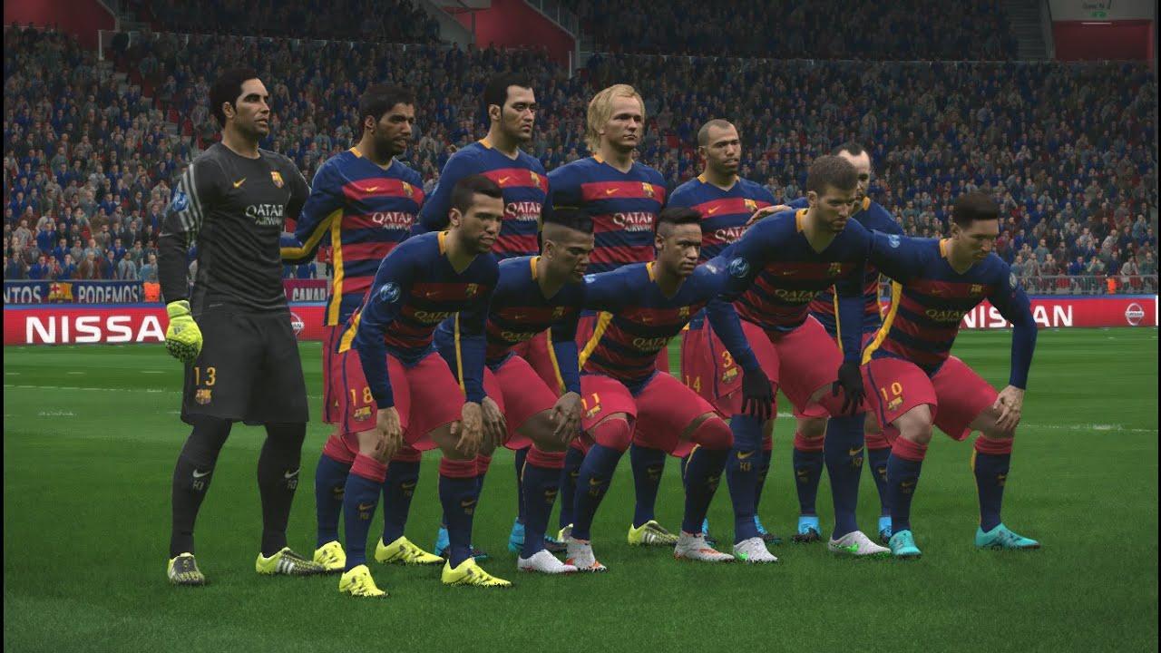 2016 gameplay fc barcelona vs bayer leverkusen hd pc ps4 youtube