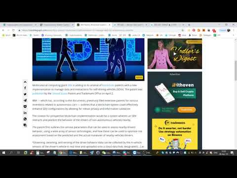 IBM filed SDV Blockchain Patent in the USA