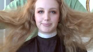Preview clip of Lisa's hair transformation haircut - long hair to chin length bob