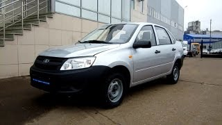2012 Lada Granta.  Start Up, Engine, and In Depth Tour.