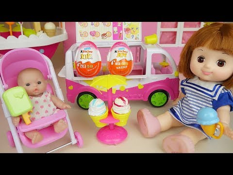 Thumbnail: Baby doll Ice cream car and surprise eggs toys play