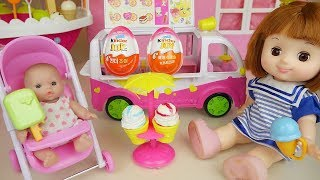 Baby doll Ice cream car and surprise eggs toys play thumbnail