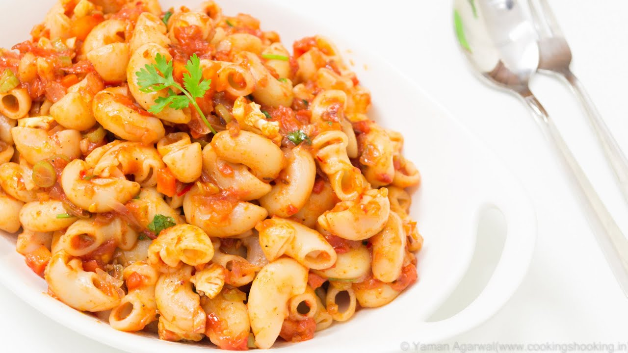 indian style macaroni pasta recipe kids lunch box
