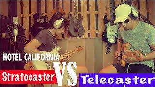 Eagles Hotel California Solo Cover Stratocaster VS Telecaster