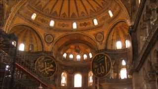 Собор Святой Софии Стамбул(Небольшой экскурс по Собору Святой Софии. Панарома интерьера. Вид на Собор с площади. Собор ночью., 2013-07-19T14:42:10.000Z)