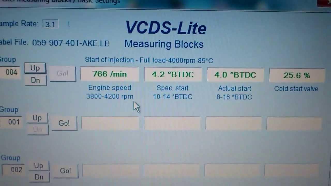 Passat Trouble Code 00550 Start Of Injection Control Vw Tdi