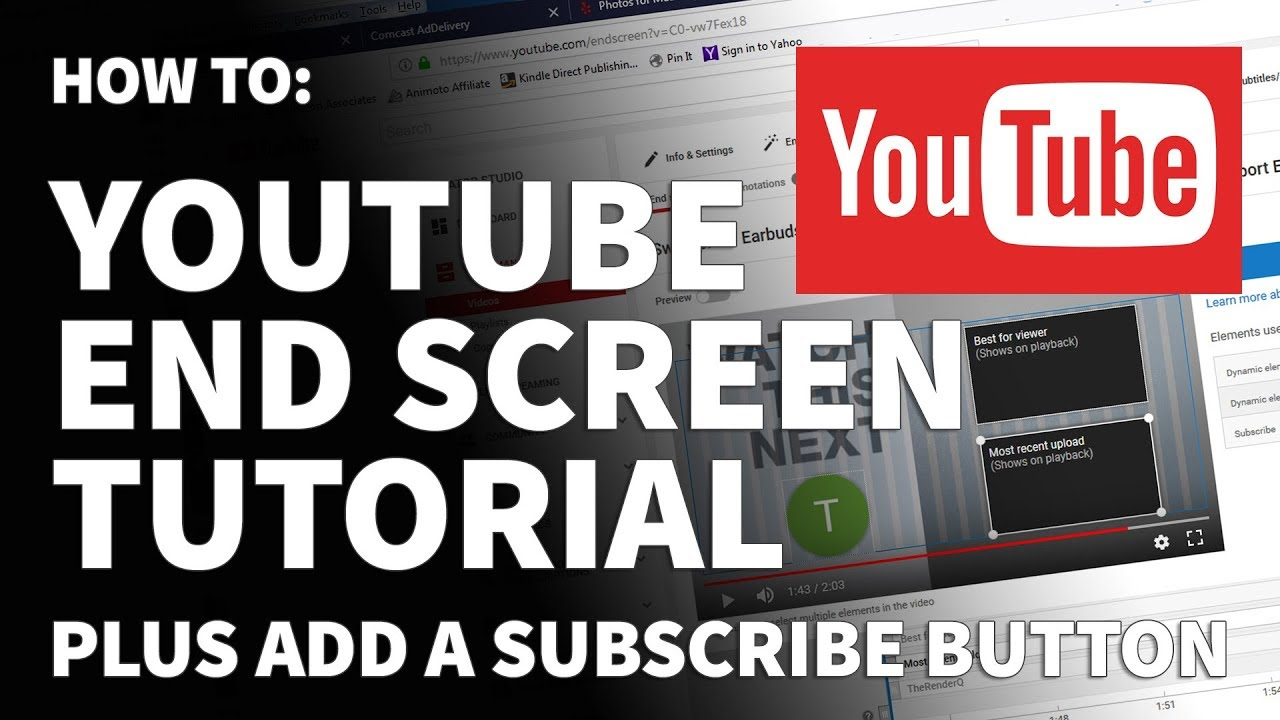 How to create youtube end screen templates tutorial add youtube how to create youtube end screen templates tutorial add youtube subscribe button baditri Image collections