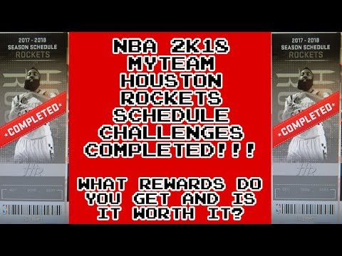 NBA 2K18 Rewards For Completing Rockets Schedule Challenges, Is It Worth It?